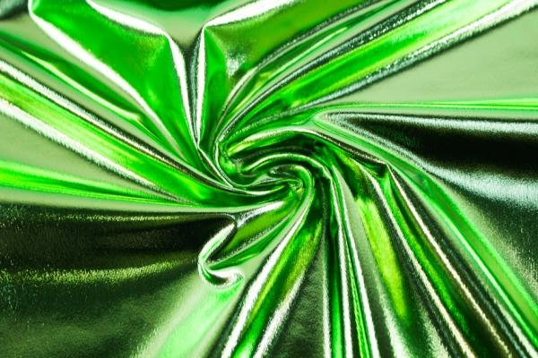 Folienjersey - Jersey Metallic lime Ökotex 100