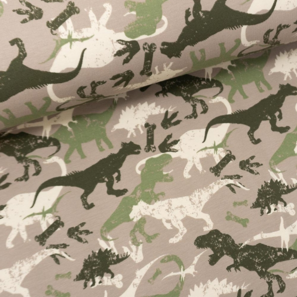 Sweat French Terry Dino Shadows taupe