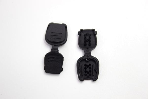 Kordelende schwarz für Hoodiekordel Flachkordel Kunststoff