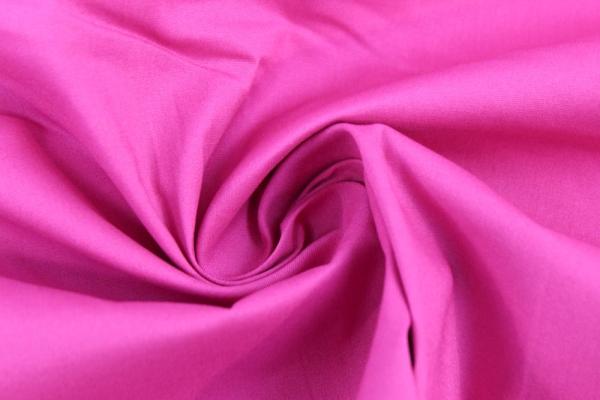 Baumwolle Poplin Stretch Uni knitterarm pink Ökotex 100