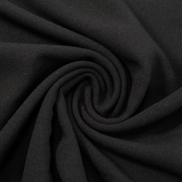 Viskose Krepp Uni schwarz