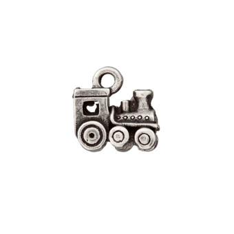 Metallzierteil Lokomotive altsilber