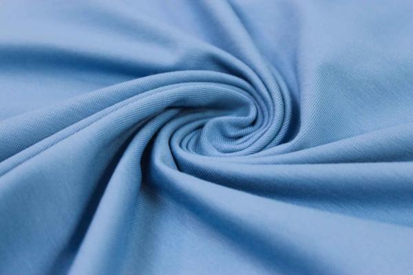 Organic Baumwolljersey Uni tintenblau Ökotex 100
