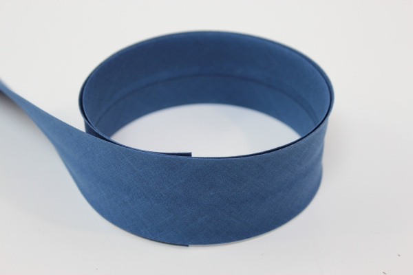 Schrägband 2cm oder 4cm breit vorgefalzt jeansblau Ökotex 100