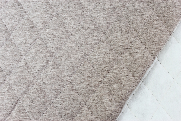 Jersey Steppstoff wattiert braun meliert Öko Tex 100