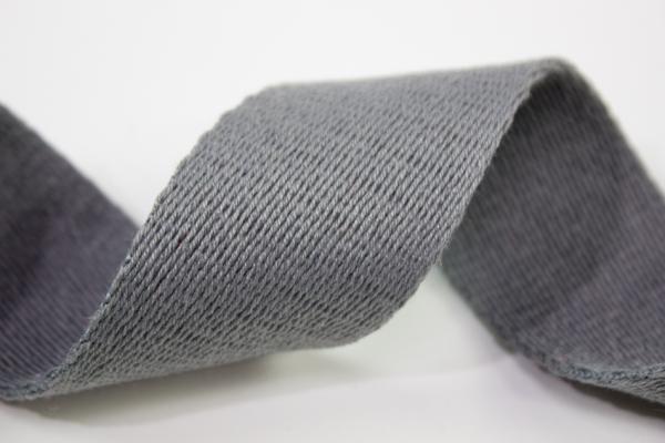 Gurtband 40mm grau 100% Baumwolle Ökotex 100