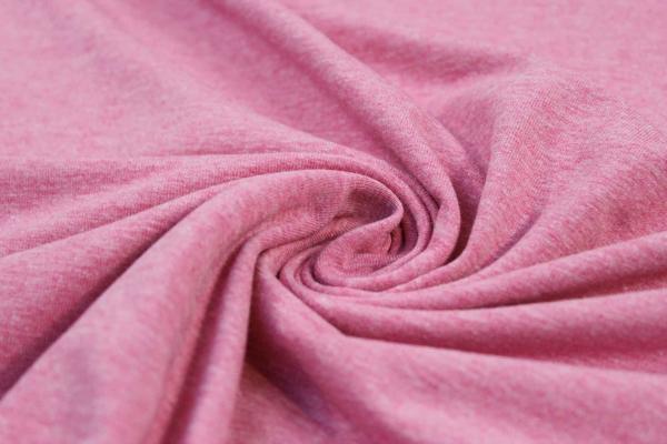 Organic Baumwolljersey MELIERT pink Ökotex 100