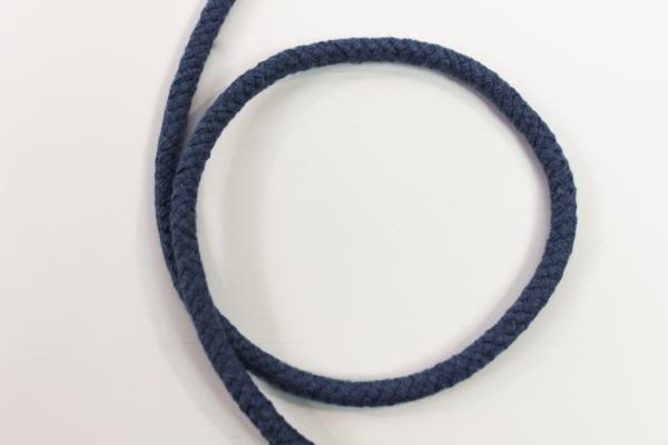 8mm Kordel geflochten jeansblau-dunkel Baumwolle