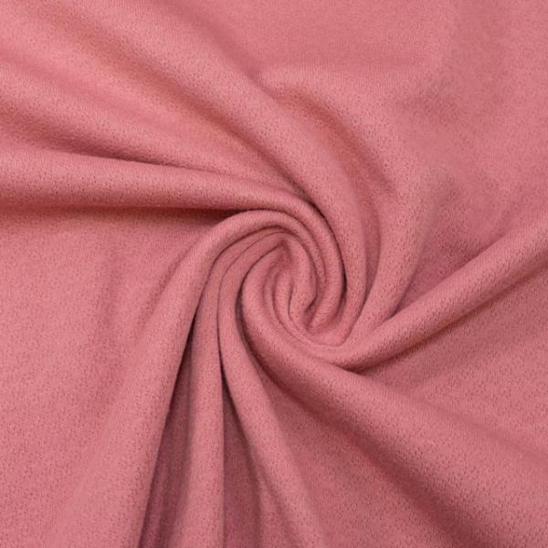 Baumwollstrick Fine Knit Dots altrosa dunkel