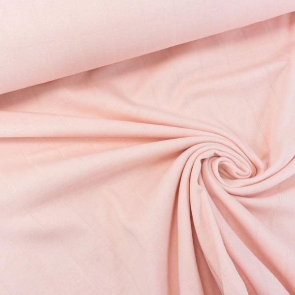 Musselin Jersey Double Uni rosa