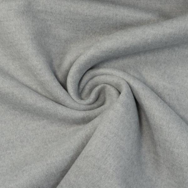 Mantelstoff Wool Touch hellgrau