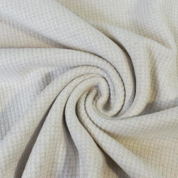 Strick-Jacquard Smooth Knit wollweiß Ökotex 100