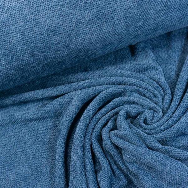 Veronique Velour Strick jeansblau