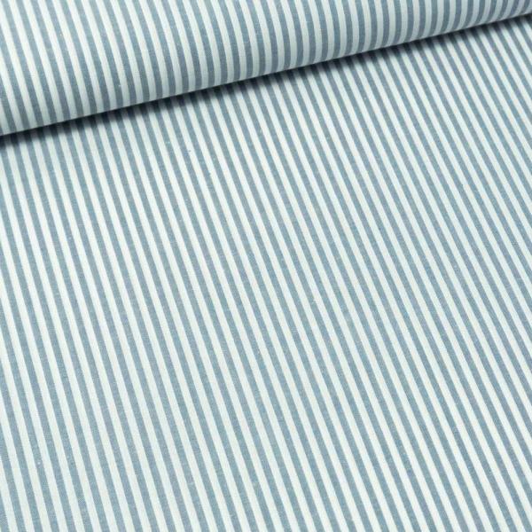 Baumwoll Popeline Streifen MELIERT jeansblau