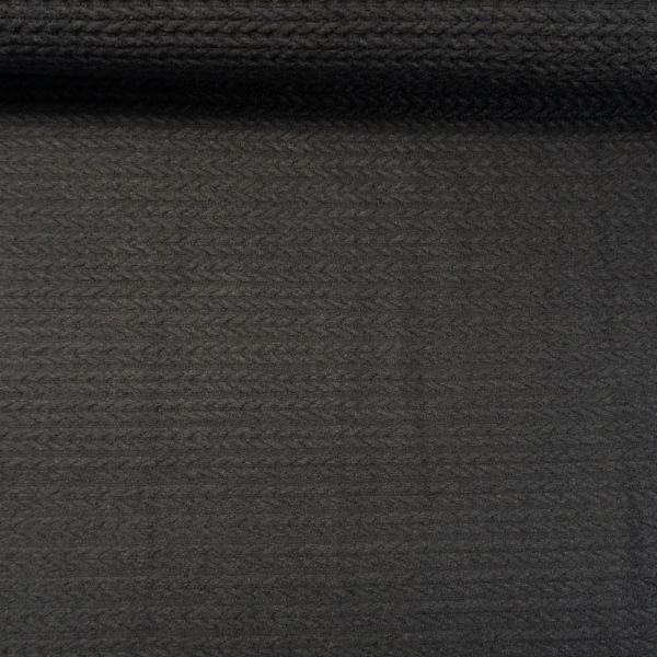 Jacquard Angora Touch schwarz