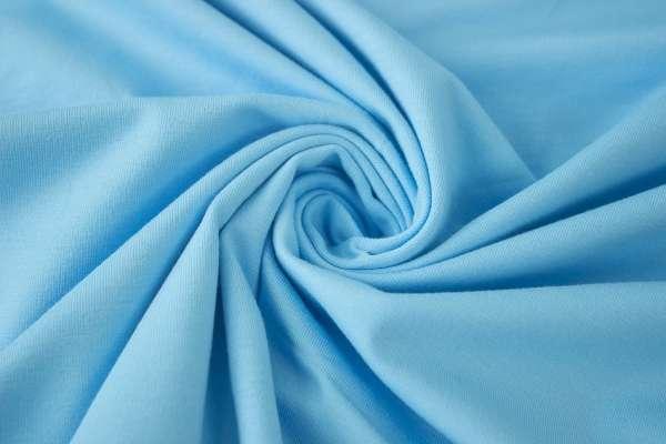 Baumwolljersey Uni hellblau Ökotex 100