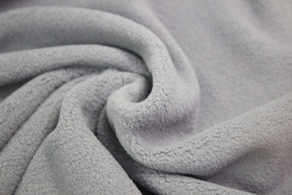 Baumwoll Fleece Sweat Grau Ökotex 100