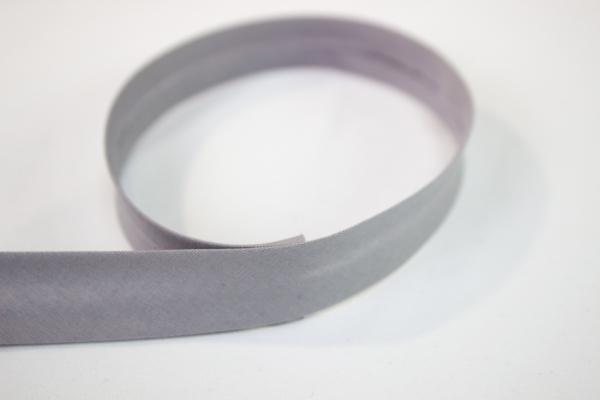 Elastisches Schrägband vorgefalzt hellgrau Ökotex 100