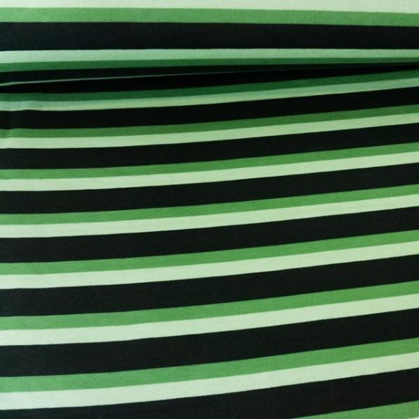 Sweat angeraut Streifen grün Ökotex 100