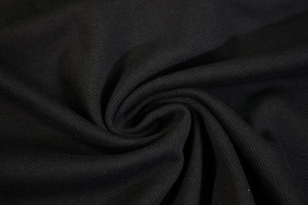 Poloshirt Baumwolljersey Uni schwarz Ökotex 100