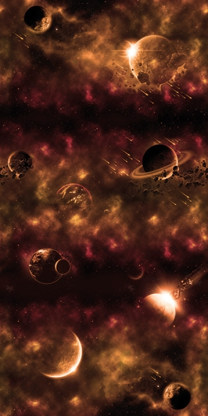 Bio-Sweat French Terry Galaxy Space kupfer