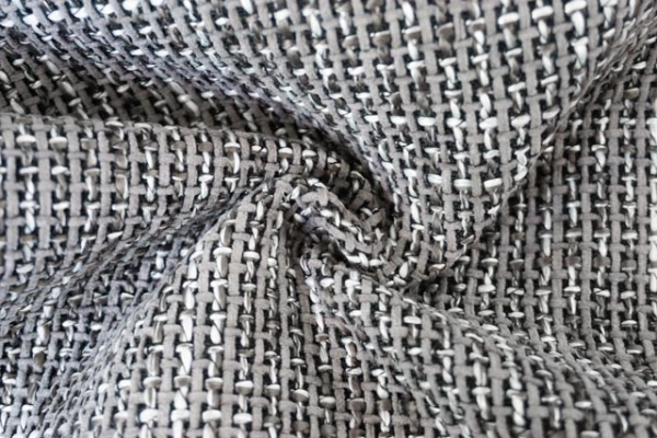 Dekostoff Jacquard grau Möbelstoff Ökotex 100