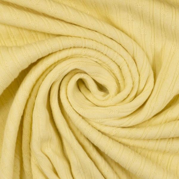 Baumwollstrick Jersey Stripeknit pastellgelb