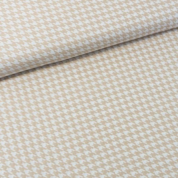 Baumwollwebware Italienische Kollektion Hahnentritt beige