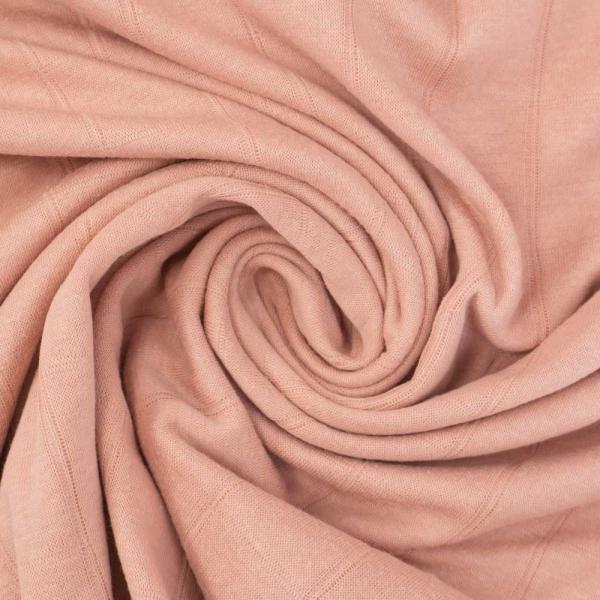 Musselin Jersey Double Uni blush rosè