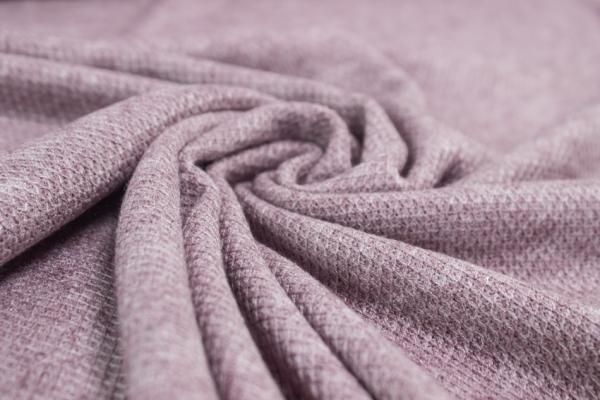 Polo Piqué Strick-Jersey altrosa meliert - Pashmina Style Ökotex 100