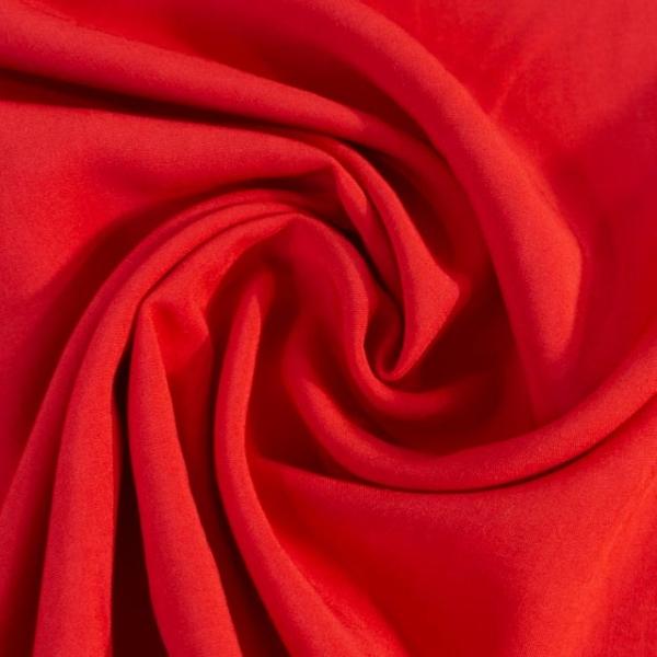 Viskosewebware Kunstseide Uni rot