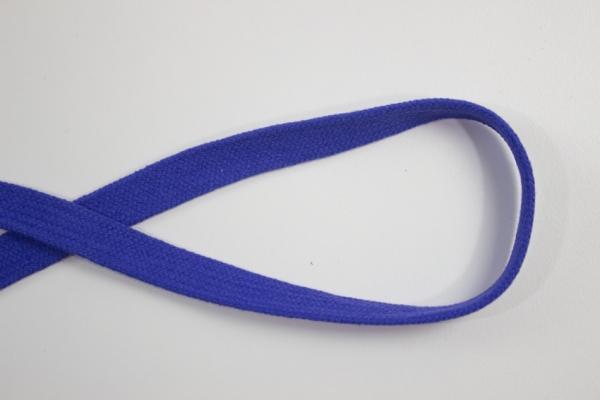 14mm Hoodie Kordel Flachkordel royalblau Baumwolle Ökotex 100
