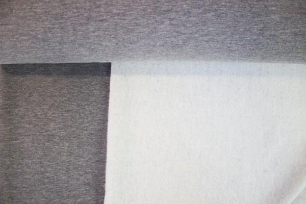 Kuschelsweat Konfetti grau meliert angeraut Ökotex 100
