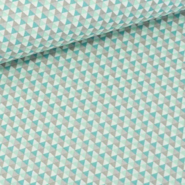 Baumwollwebware Triangles mint