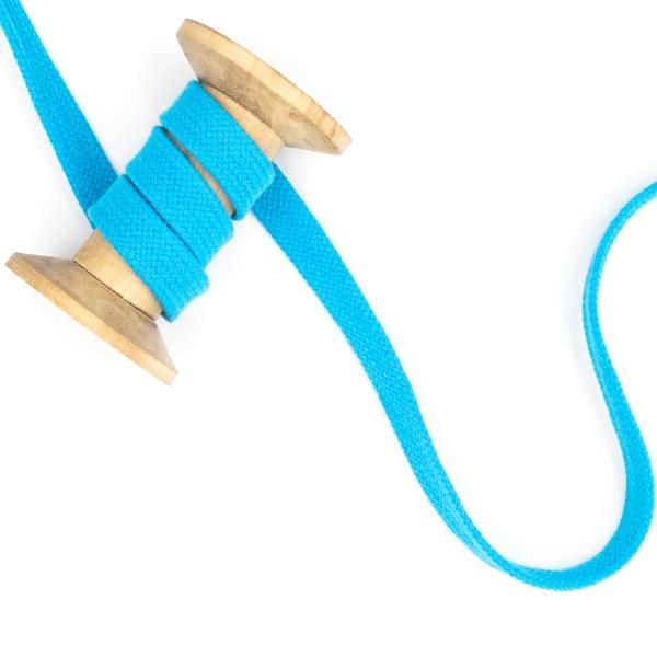 Flachkordel 15mm - Hoodie Kordel türkis