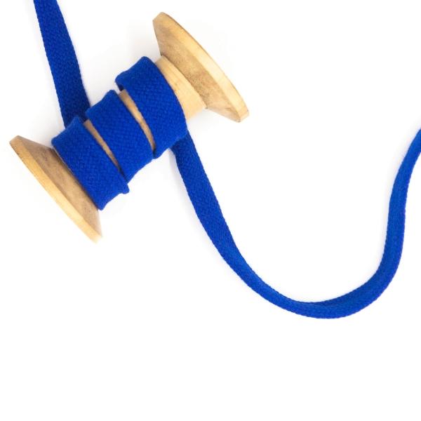 Flachkordel 15mm - Hoodie Kordel royalblau