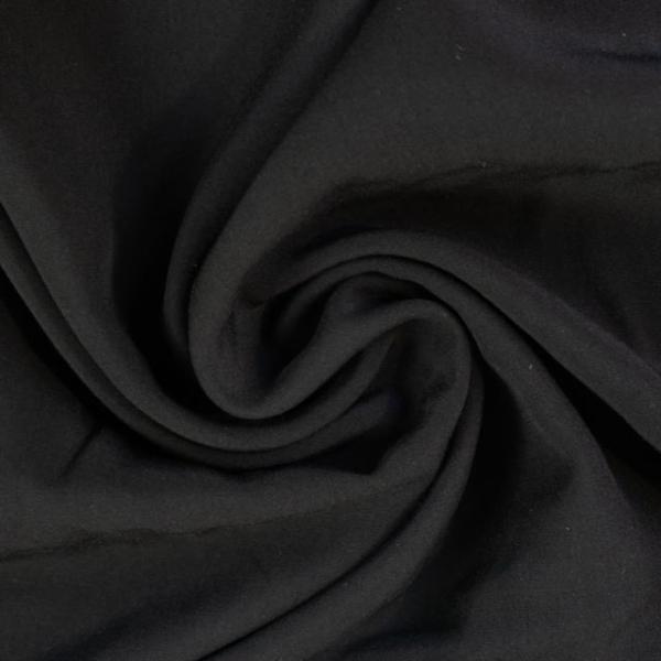 Viskosewebware Kunstseide Uni schwarz