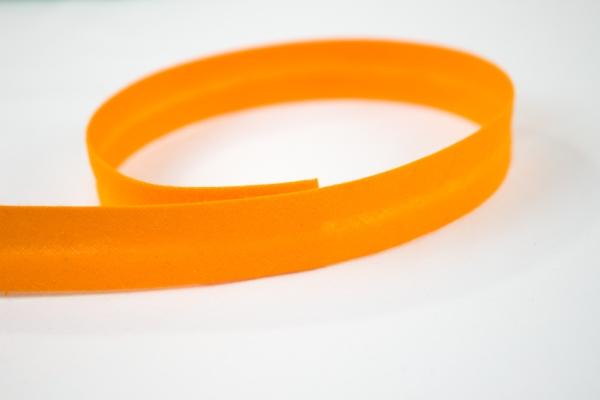 Schrägband vorgefalzt orange Ökotex 100