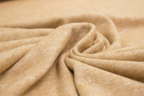 Pashmina-Look Strick-Jersey senf meliert Ökotex 100