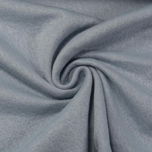 Doubleface Baumwolljersey Lochoptik jeansblau