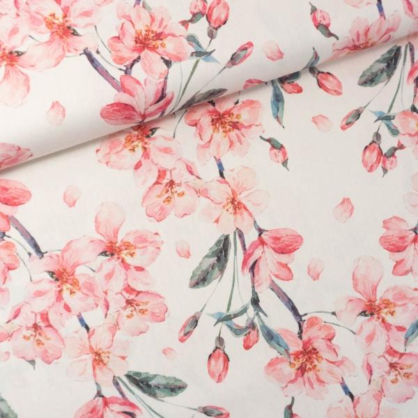 Canvas DIGITAL Blooms ecru