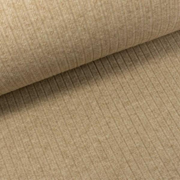 Jaquard Ripp-Knit Smooth Melange beige