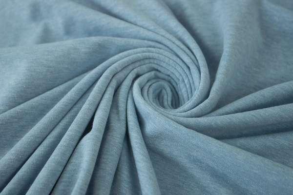 Baumwolljersey MELIERT jeansblau Ökotex 100