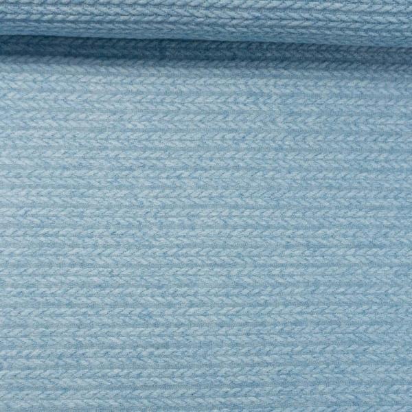 Jacquard Angora Touch jeansblau hell