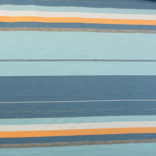 Baumwolljersey Große Streifen blau