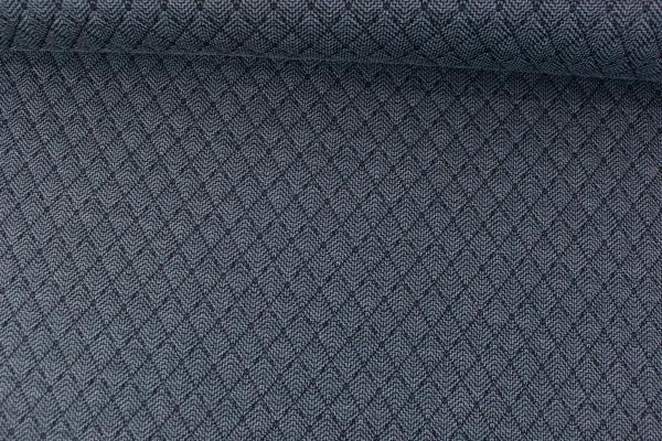 Jacquard Stepper Doubleface Chevron jeansblau dunkel-schwarz Ökotex 100