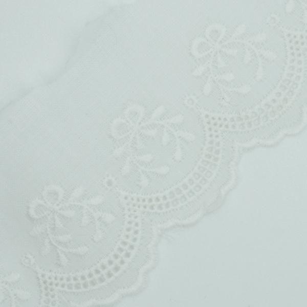 Baumwoll Spitzenborte Siegeskranz weiß 3,5cm