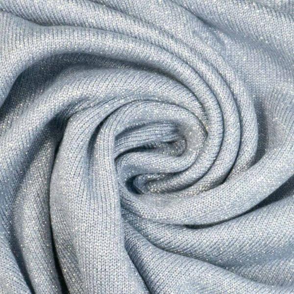 Strickjersey Sparkle UNI jeansblau