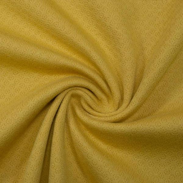 Baumwollstrick Fine Knit Dots senfgelb