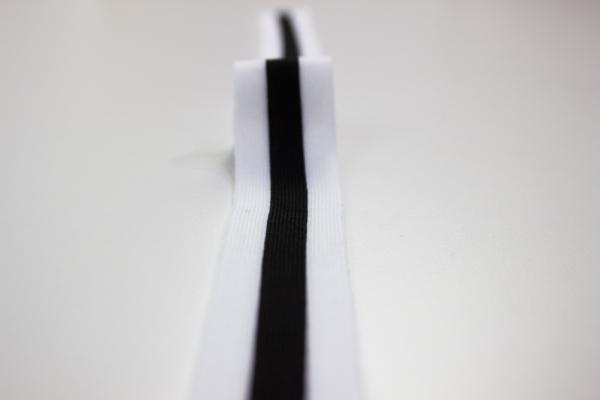 Galonband weiß-schwarz-weiß Ökotex 100
